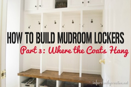 how to build mudroom lockers where the coats hang