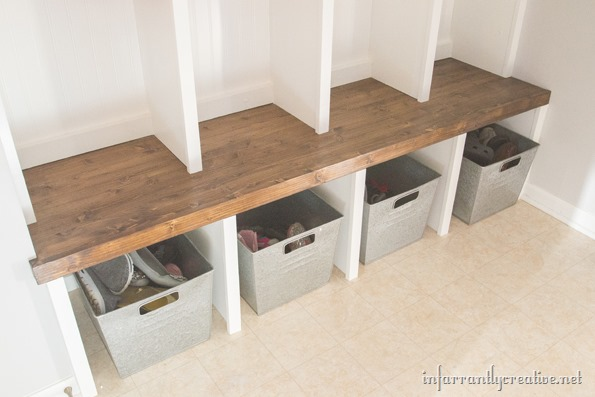 Mudroom lockers part 1 bench infarrantly creative for Mudroom locker design plans