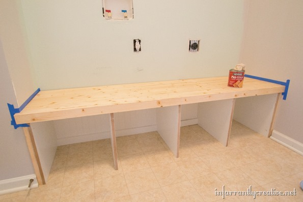 mudroom-bench-stained