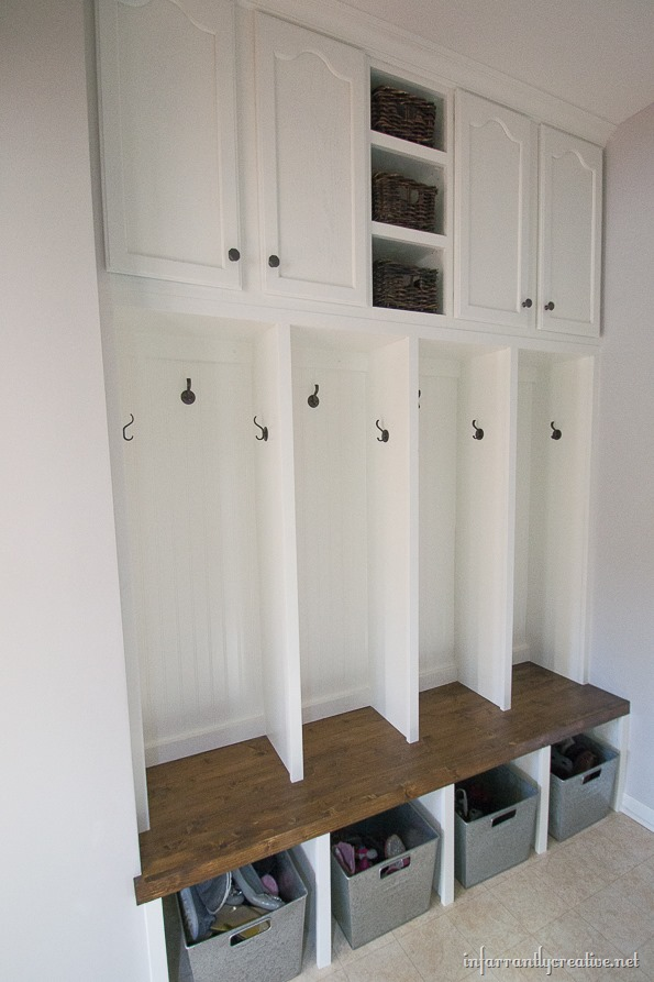 Mudroom Locker Final Reveal Infarrantly Creative