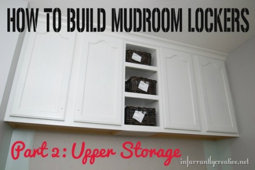 how to build mudroom lockers - upper storage