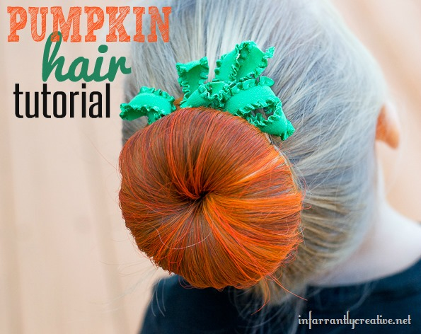 Halloween Hair Pumpkin Bun Infarrantly Creative
