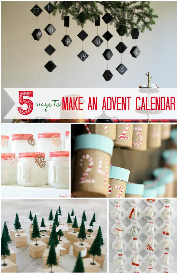 5 Ways To Make An Advent Calendar Infarrantly Creative