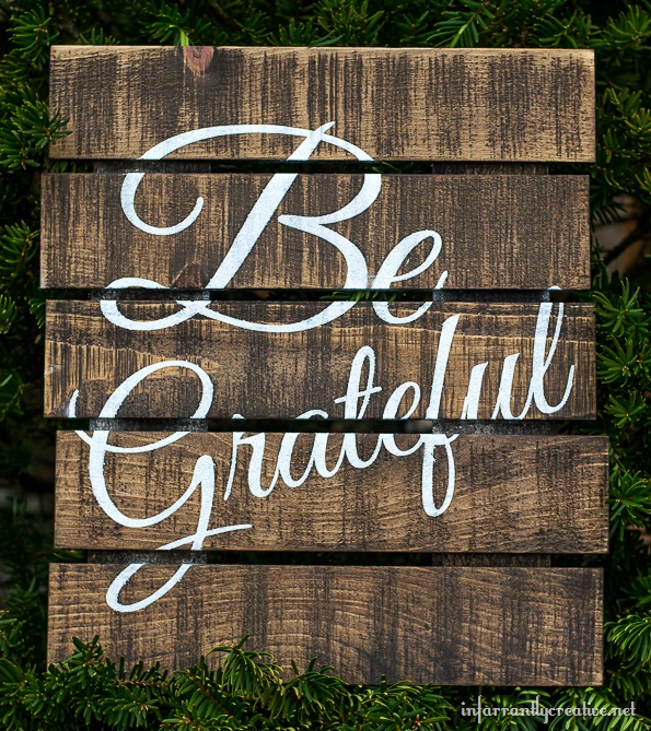 Paint The Word Blessed On Pallet Wood