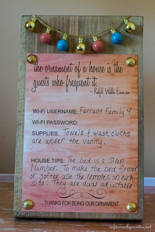 guest room decor ideas with printable-sign