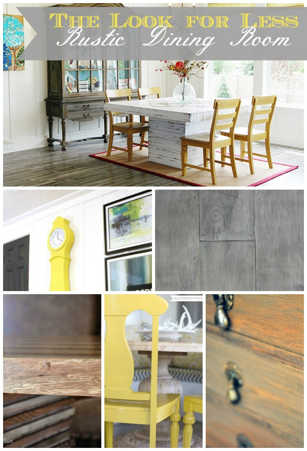 5 Ways to Get This Look:  Rustic Dining Room