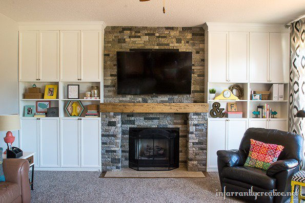 styling shelves and bookcases