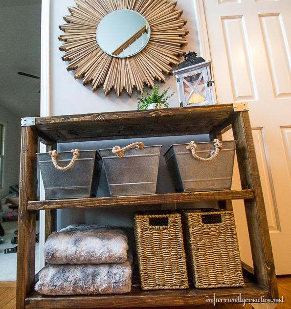 Diy Foyer Furniture : Diy industrial hallway cart