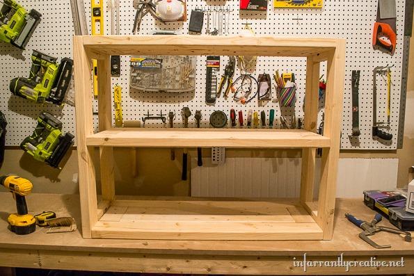 DIY Industrial Hallway Cart