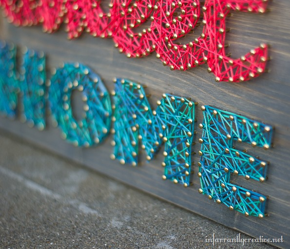 home sweet home string art