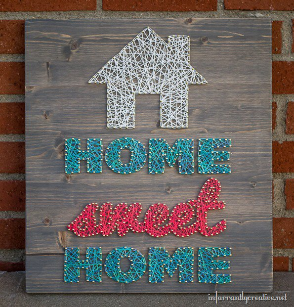 Home sweet home string art infarrantly creative - Creative digital art ideas for your home ...