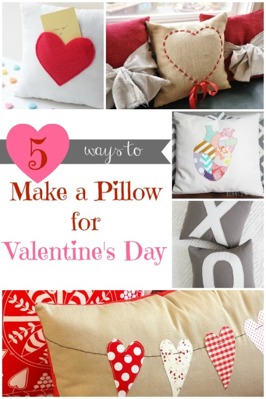 5 Ways to Make a Pillow for Valentine's Day