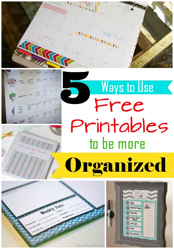 5 Ways to Use Free Printables to Get Organized in 2015