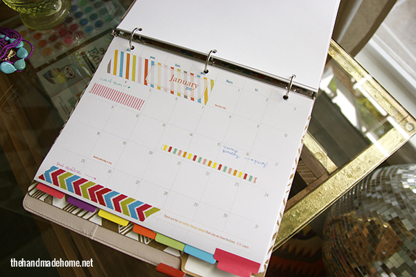 Creative Handmade Calendar : Ways to use free printables get organized in