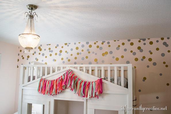 confetti dots wall