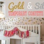 DIY Wall Decor | Creating Temporary Gold & Silver Confetti Wall