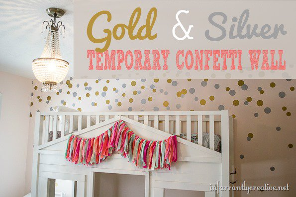 Gold & Silver Confetti Wall – Temporary Focal Wall