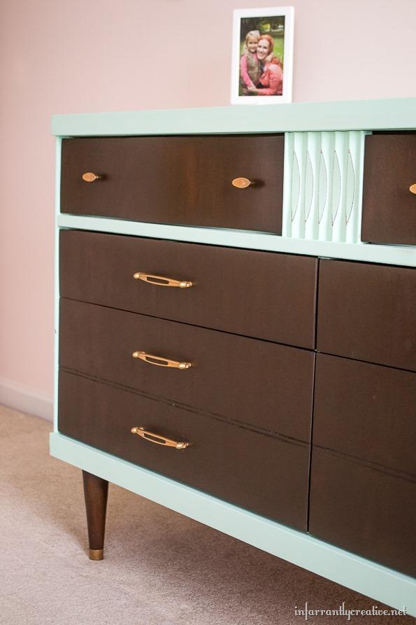 mint colored dresser