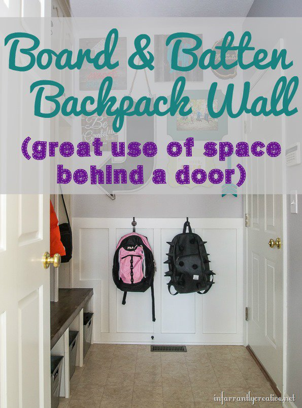 Board & Batten Mudroom Backpack Wall