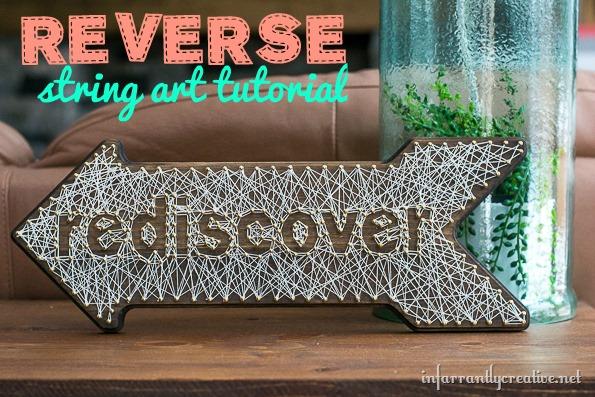 reverse string art tutorial
