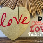 DIY Crafts  Glittered Love Pallet Heart