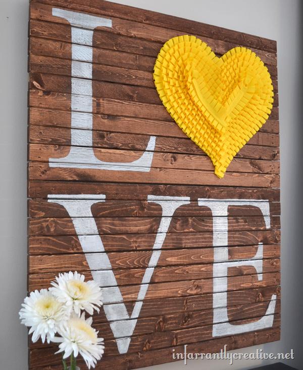 Valentine Pallet Art