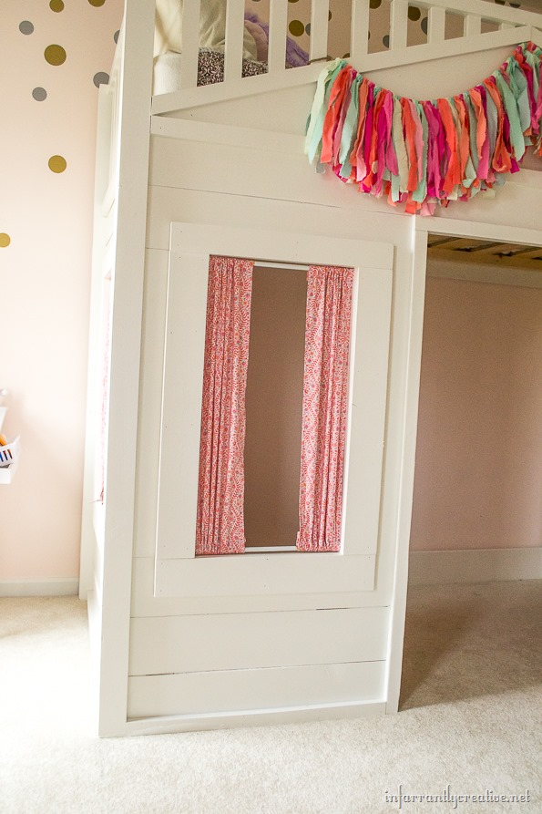 cottage loft bed curtains