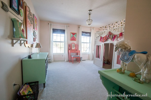 little girls coral mint bedroom makeover