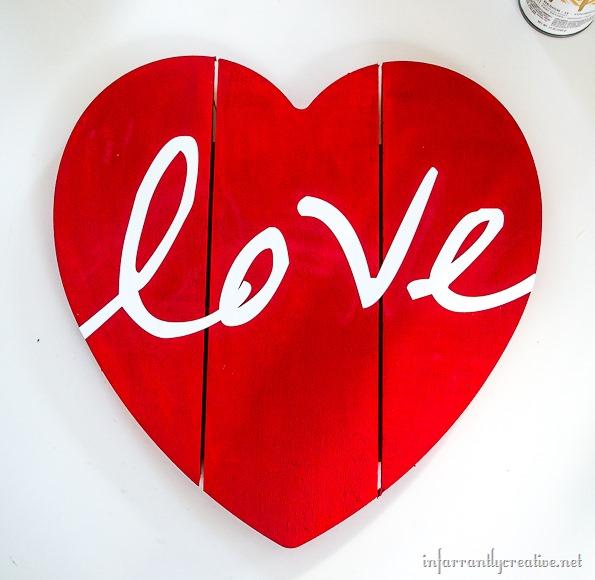 love wood heart
