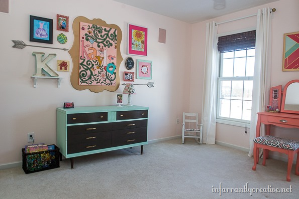 mint coral bedroom