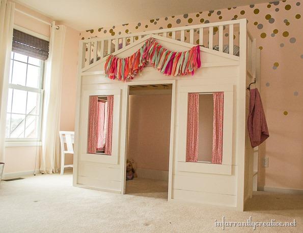 pb kids cottage loft bed knock-off