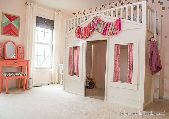 pottery barn kids cottage loft-bed