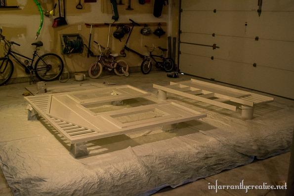 white cottage loft bed