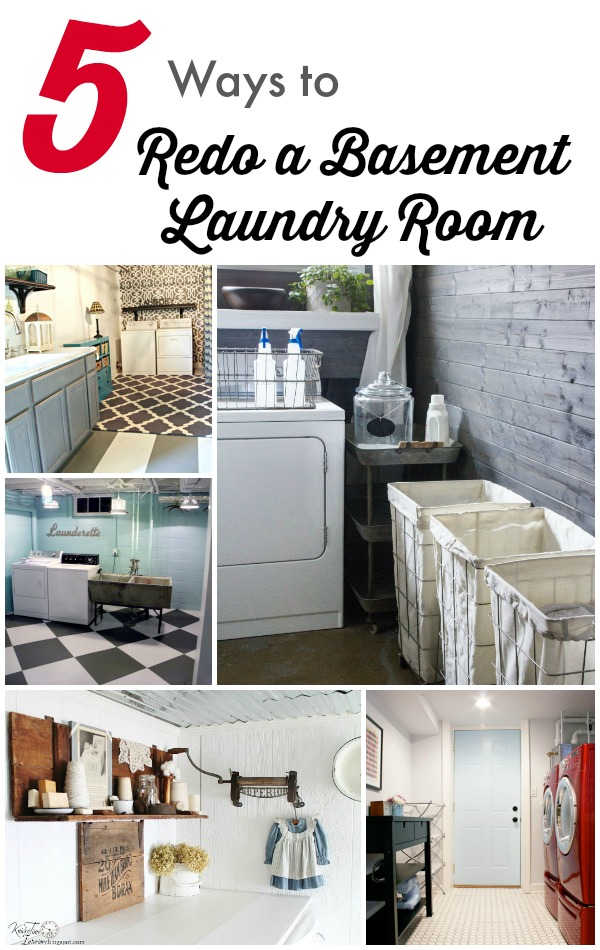 5 ways to redo a basement laundry room infarrantly creative