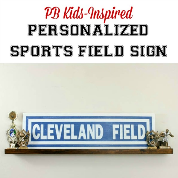 Personalized Sports Field Sign {PB Kids Knock-Off}