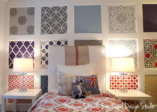 Framed Wallpaper Panels Dining Room