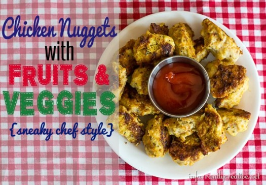 Chicken Nuggets with Fruits & Vegetables {Sneaky Chef Style}