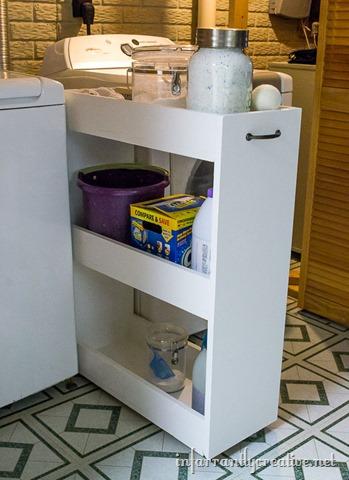 Diy Slim Rolling Laundry Cart Free Plans Infarrantly