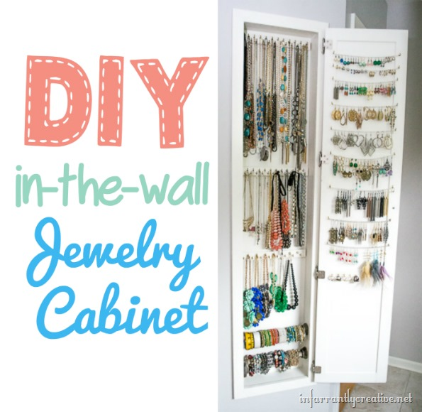 Inset Jewelry Cabinet Cutting The Wall And Building The