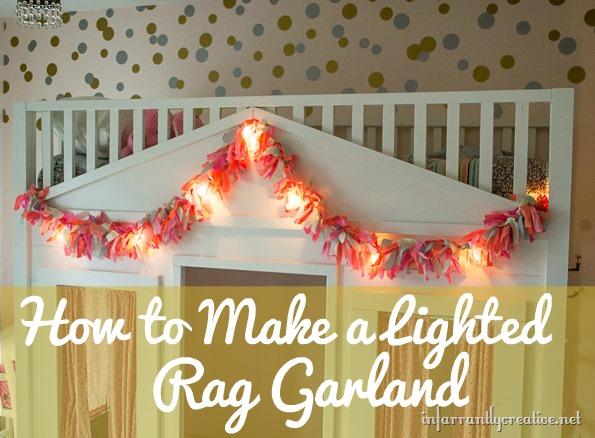 fabric garland lighted DIY