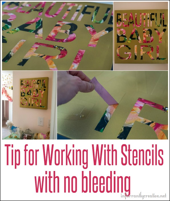 tips for working with stencils