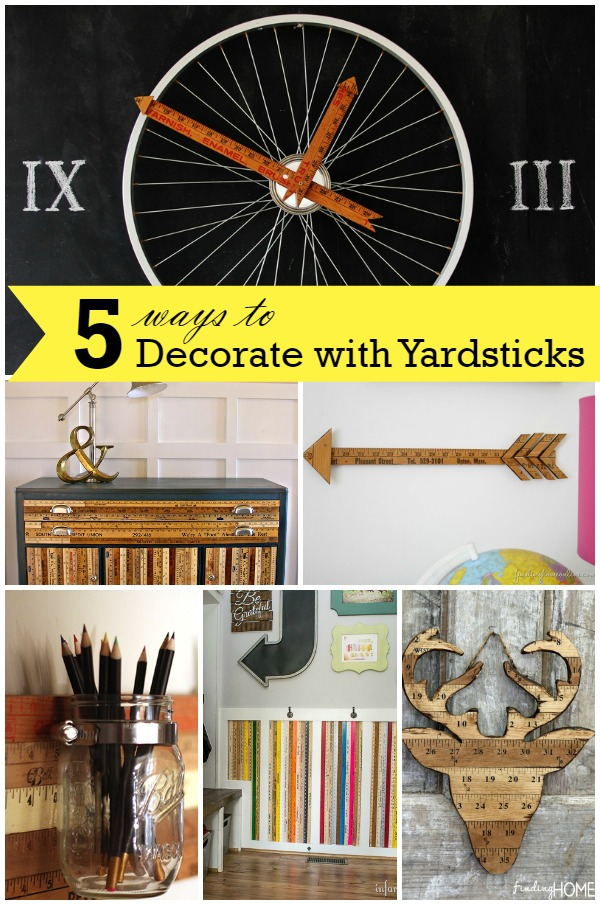 5 Ways to Use Yardsticks in Your Decor