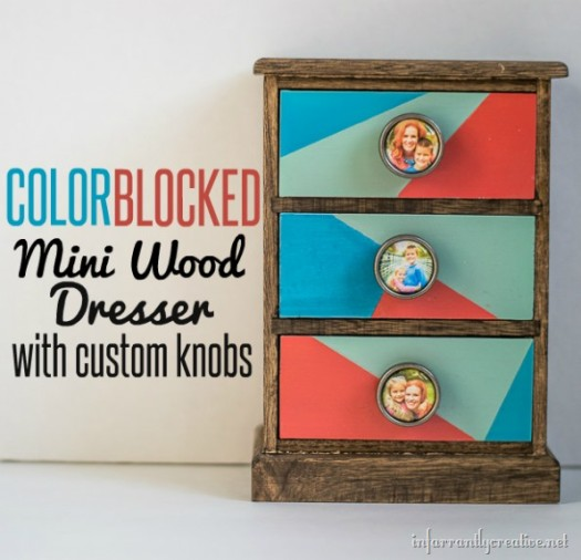 Color Block Mini Wood Dresser