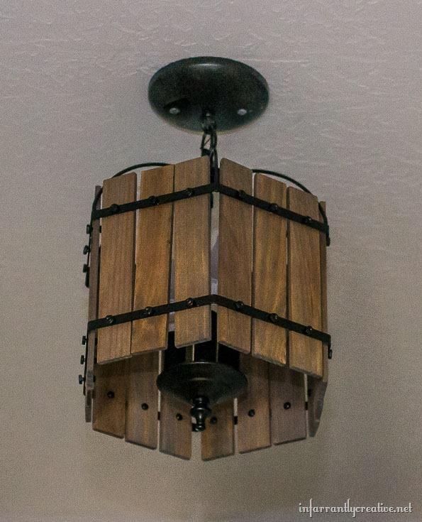 DIY wood chandelier
