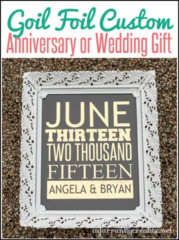 Wedding Gift A Year Of Dates : Gold Foil Wedding Date {Great Anniversary or Wedding Gift ...