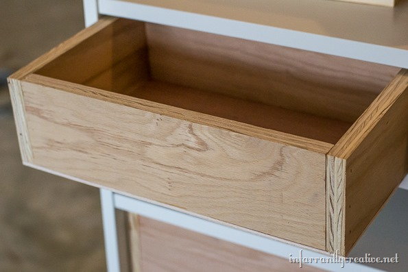 Ikea billy bookcase to drawer hack for Ikea bookcase with drawers