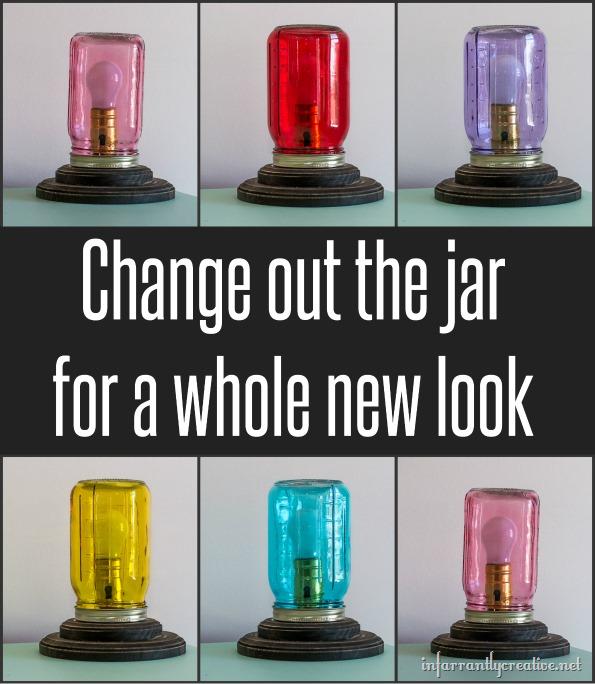 mason jar colored lamps