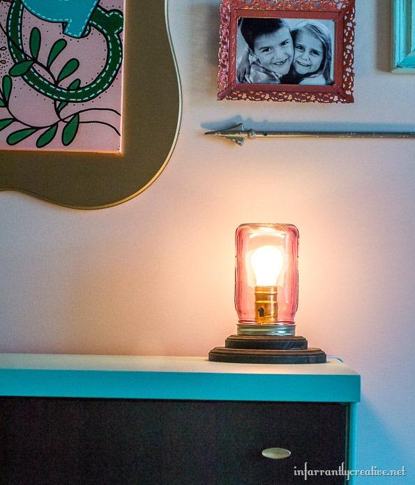 mason jar in bedroom