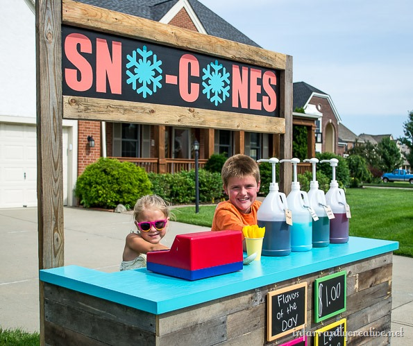 The Cutest Sno Cone Stand Ever