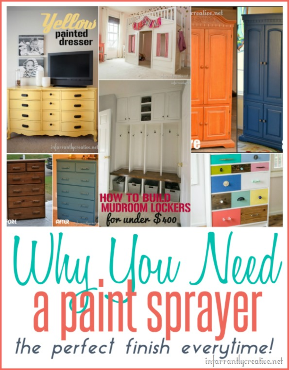 Why You Need a Paint Sprayer {and how to clean it!}